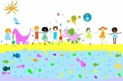Fototapeta dla dzieci - Dzieciaki i zwierzaki - 175x115 cm