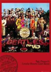 The Beatles (lonley hearts) - plakat