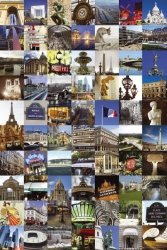 Paris Collage - plakat