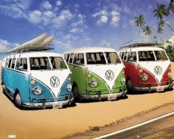 VW Californian Camper Camper - plakat