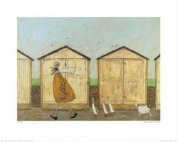 Doris wśród drewnianych domków - reprodukcja