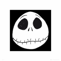 Nightmare Before Christmas Face - reprodukcja