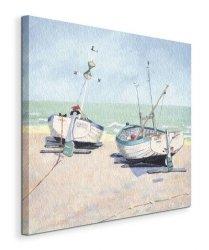 Two Moored Boats - Obraz na płótnie