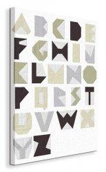 Alphabet Blocks - Obraz na płótnie