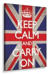 Keep Calm and Carry On (Union Jack) - Obraz na płótnie