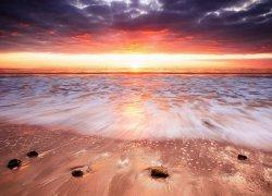 Fototapeta do sypialni - Zachód słońca, Australia - 320x230 cm