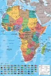 Mapa Afryki 2013 - plakat