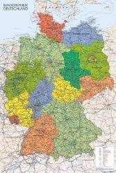 Mapa Niemiec 2013 - plakat