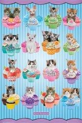 Kotki, Koty z babeczkami - plakat