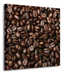 Świeże Ziarna Kawy V - Obraz na płótnie
