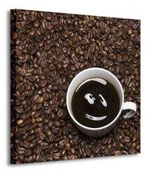 Coffee smile - Obraz na płótnie