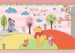 Fototapeta dla Dzieci - Kubuś Puchatek i Przyjaciele Głowa w Chmury - 254x184cm