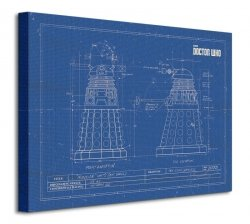 Obraz do salonu - Doctor Who (Dalek Blueprint)