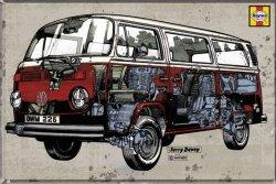 VW Volkswagen Camper Prześwietlenie - plakat
