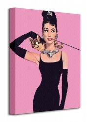 Audrey Hepburn (Pink) - Obraz na płótnie