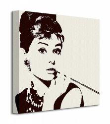 Audrey Hepburn (Cigarello) - Obraz na płótnie