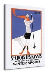 Ste. Croix-Les Rasses - Obraz na płótnie