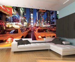 Fototapeta na ścianę - New York Taxi Times Square - 315x232cm
