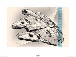 Star Wars The Force Awakens Millennium Falcon - reprodukcja