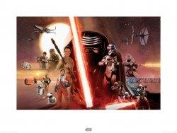 Star Wars The Force Awakens Galaxy - reprodukcja