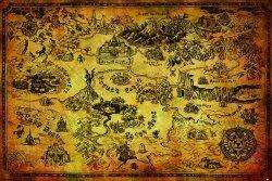 The Legend Of Zelda (Hyrule Map) - plakat
