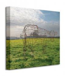 Pink Floyd (Wireframe Cow) - Obraz na płótnie