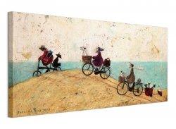 Obraz na ścianę - Electric Bike Ride - 100x50 cm