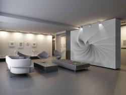 Fototapeta do salonu - Abstrakcja, fala 3d - 366x254cm
