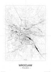 Wrocław - Czarno-biała mapa