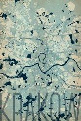Plakat na ścianę - Kraków - Artystyczna mapa - 61x91,5 cm