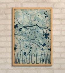 Plakat na ścianę - Wrocław - Artystyczna mapa - 61x91,5 cm