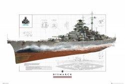World Of Warships Pancernik Bismark - plakat