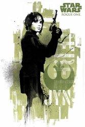Star Wars Łotr 1 (Jyn Grunge) - plakat