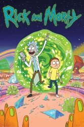 Rick i Morty Magiczny Portal - plakat z serialu