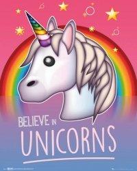 Emoji I Believe In Unicorns - plakat
