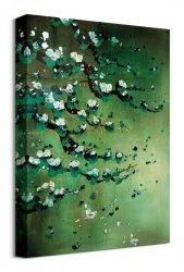 Blossoms on Jade - obraz na płótnie