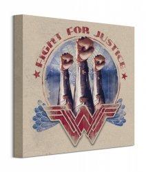 Wonder Woman Fight For Justice - Fist - obraz na płótnie