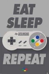 Nintendo (Eat Sleep SNES Repeat) - plakat
