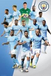 Manchester City Zawodnicy 17/18 - plakat