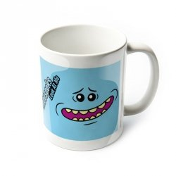 Kubek ceramiczny - Rick and Morty (Mr Meeseeks Face)