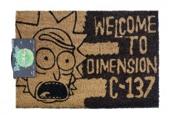Rick and Morty (Dimension C-137 Black) - wycieraczka