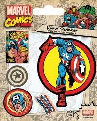 Captain America Retro - naklejki