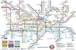 Londyn (Mapa metra) - plakat