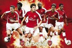 Arsenal (gracze 08/09) - plakat
