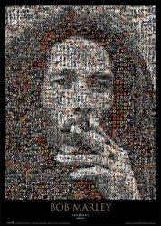 Bob Marley (mozaika) - plakat
