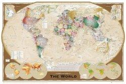 Mapa Świata (Triple Projection ang.) - plakat