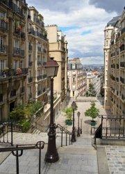 Fototapeta na ścianę - Schody Paryż Montmartre - 183x254 cm