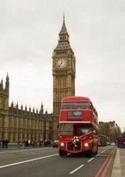 Fototapeta na ścianę - Londyn i autobus - 183x254 cm
