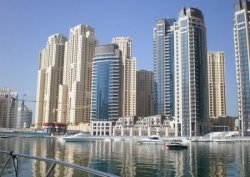 Fototapeta do salonu - Dubai Marina - 254x183 cm