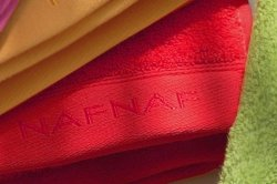 Ręcznik - Czerwony - 100% Bawełna - NAF NAF - 70x140
